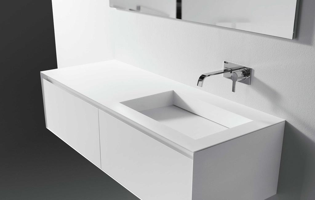 bordplade med vask til badeværelse Vask badeværelse bordplade med vask til badeværelse