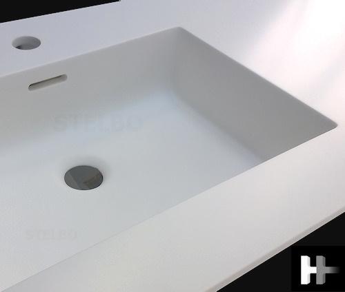 Smart Firkantet Corian håndvask model FP50 PA71