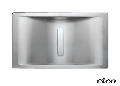 Stålvask til bad. inkl. montering. 540 x 300mm eico steel