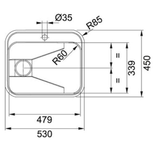 Vask inkl. montering i laminatbordplade